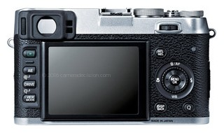 Fujifilm X10 back view and LCD