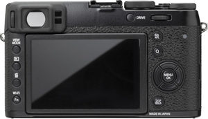 Fujifilm X100T back view and LCD