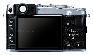 Fujifilm X20 back view and LCD
