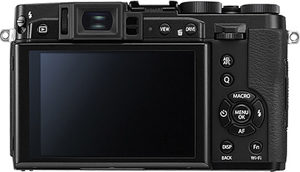 Fujifilm X30 back view and LCD