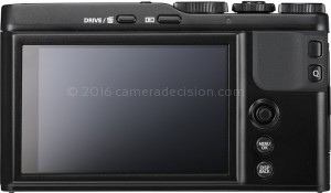 Fujifilm XF10 back view and LCD