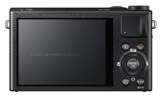 Fujifilm XQ1 back view and LCD