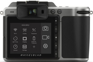 Hasselblad X1D back view and LCD