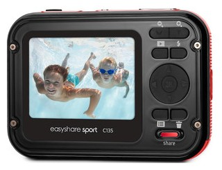Kodak Sport back view and LCD