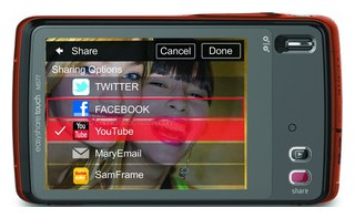 Kodak Touch back view and LCD