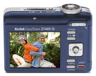 Kodak Z1485 IS back view and LCD