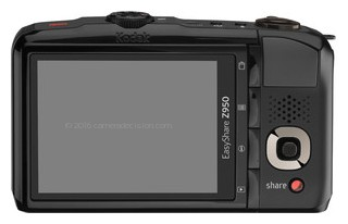 Kodak Z950 back view and LCD