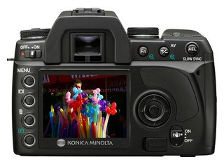 Konica Minolta 5D back view and LCD