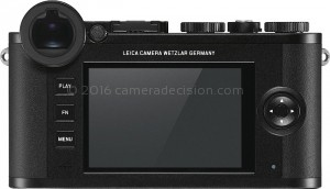 Leica CL back view and LCD