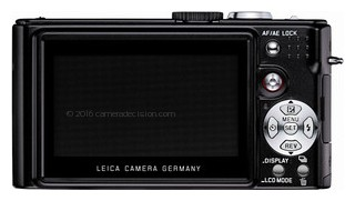 Leica D-LUX 3 back view and LCD