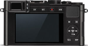 Leica D-Lux Typ 109 back view and LCD