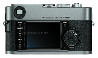 Leica M-E Typ 220 back view and LCD