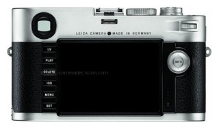 Leica M Typ 240 back view and LCD
