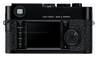 Leica M9 back view and LCD