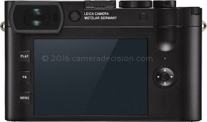Leica Q2 back view and LCD