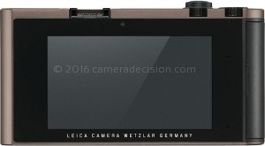 Leica TL back view and LCD