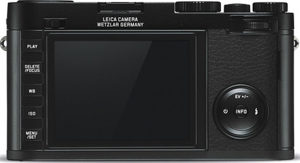 Leica X (Typ 113) back view and LCD