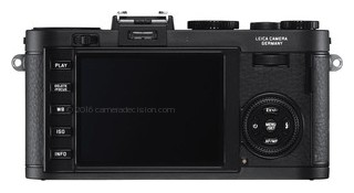 Leica X2 back view and LCD