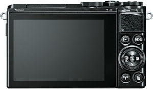 Nikon 1 J5 back view and LCD