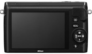 Nikon 1 S2 back view and LCD