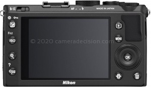 Nikon A back view and LCD