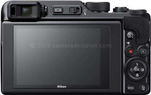 Nikon A1000 back view and LCD