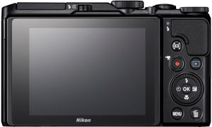 Nikon A900 back view and LCD