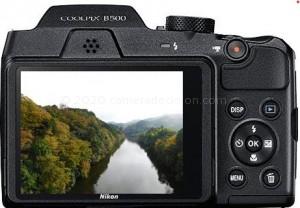 Nikon B500 back view and LCD