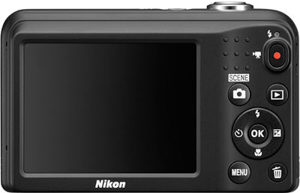 Nikon L31 back view and LCD