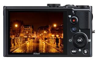 Nikon P300 back view and LCD