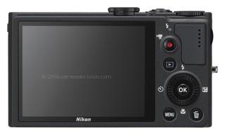 Nikon P310 back view and LCD