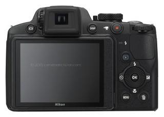 Nikon P510 back view and LCD