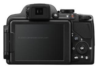 Nikon P520 back view and LCD