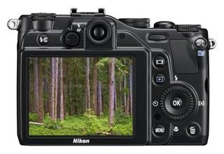 Nikon P7000 back view and LCD