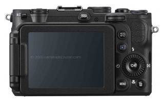 Nikon P7700 back view and LCD