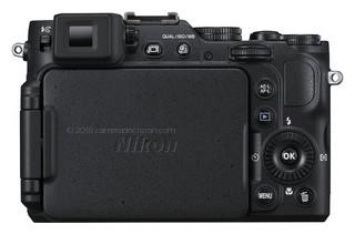 Nikon P7800 back view and LCD