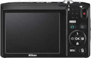 Nikon S2900 back view and LCD