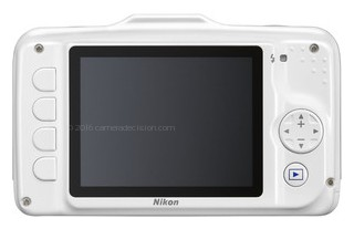 Nikon S31 back view and LCD