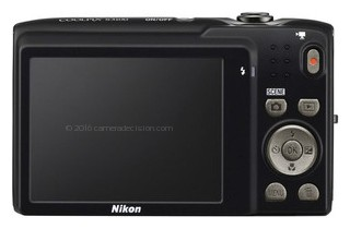 Nikon S3100 back view and LCD