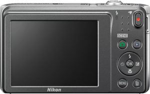 Nikon S3700 back view and LCD