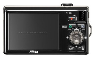 Nikon S6000 back view and LCD
