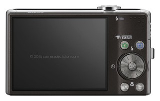 Nikon S620 back view and LCD