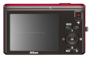 Nikon S6300 back view and LCD