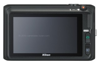 Nikon S6400 back view and LCD