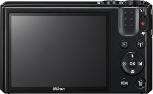 Nikon S7000 back view and LCD