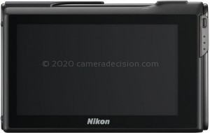 Nikon S80 back view and LCD
