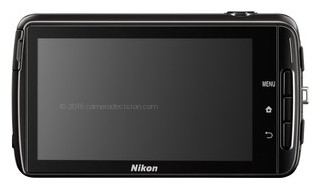 Nikon S810c back view and LCD