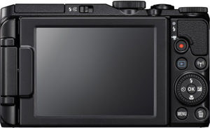 Nikon S9900 back view and LCD