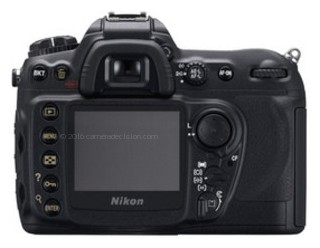 Nikon D200 back view and LCD