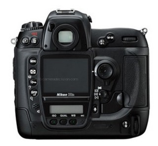 Nikon D2Hs back view and LCD